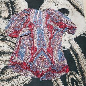 Uncle frank paisley print mini dress L